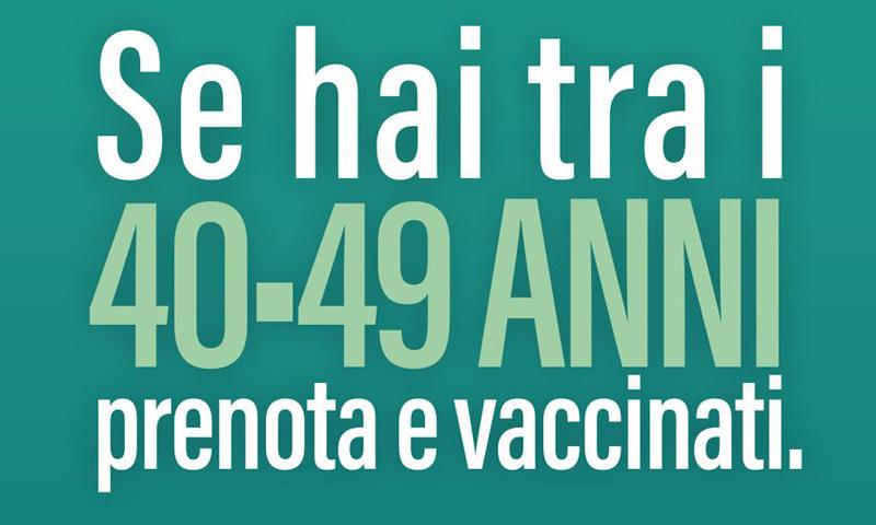 Prenotazione vaccino quarantenni