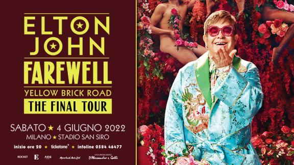 Elton John a Milano in concerto il 20 giugno 2022