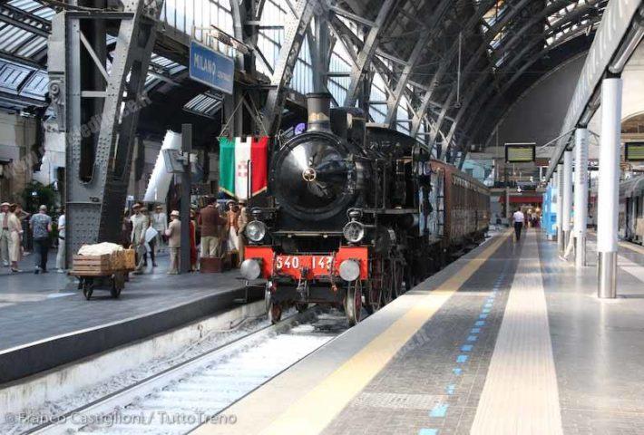 Partirà dalla Stazione Centrale di Milano un treno a vapore di 100 anni fa